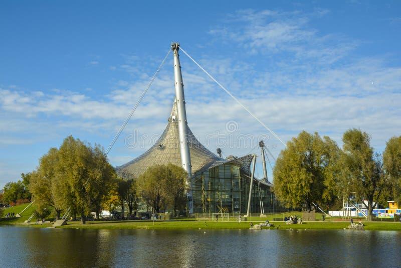Olympiapark i Munich, Bayern, Tyskland arkivbilder