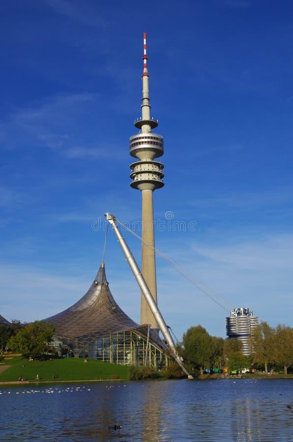 Olympiapark München stock afbeeldingen