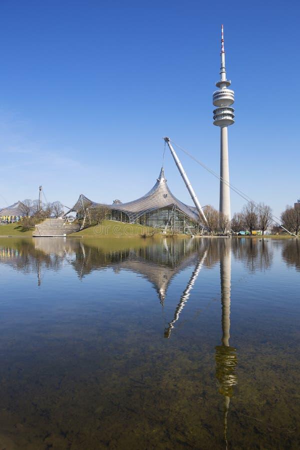 Olympiapark Munchen стоковое изображение