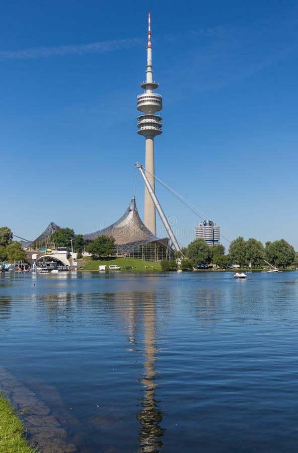 Olympiapark teren, Monachium Niemcy obraz royalty free