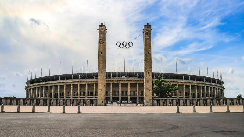 OLYMPIASTADION BERLIN , GERMANY stock photo