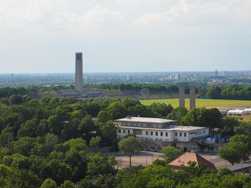 Olympiastadion olympic stadium in Berlin stock photos