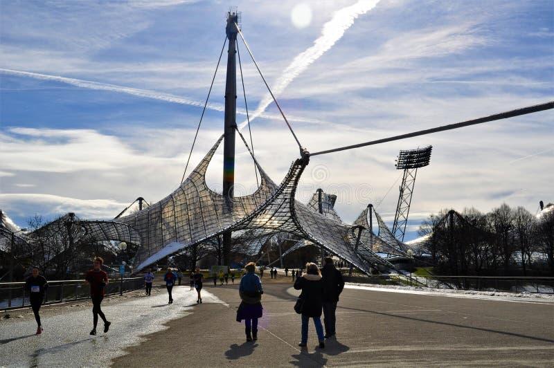 Olympiastadion, Stadions-München-Eingang stockfoto