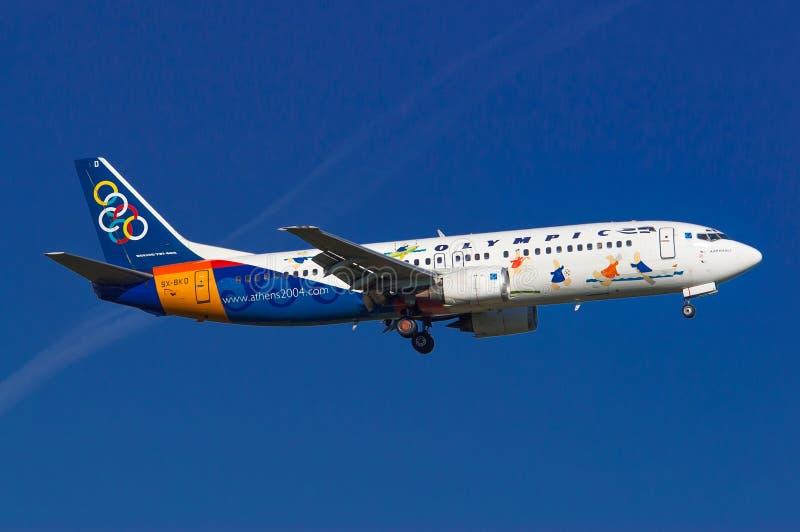 Olympic Airlines Boeing 737 arkivbilder