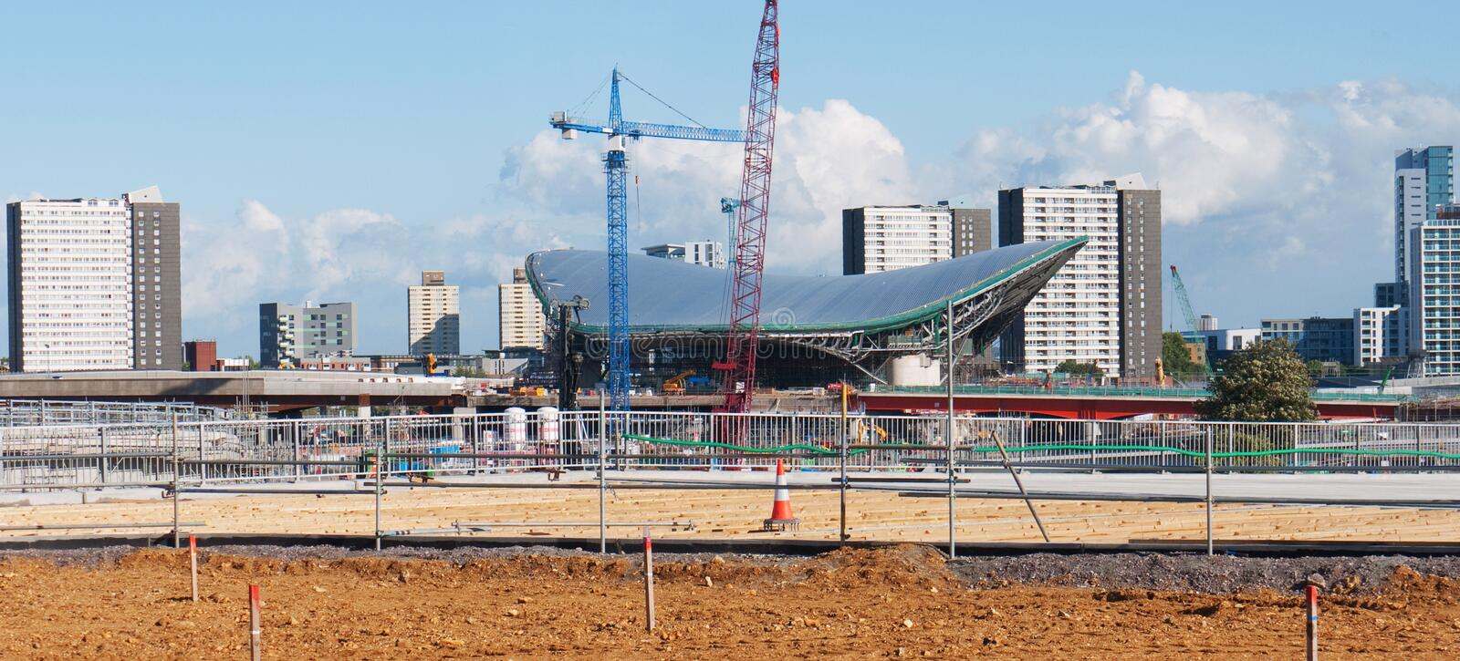Olympic Aquatic Centre Under Consruction Editorial Stock Photo