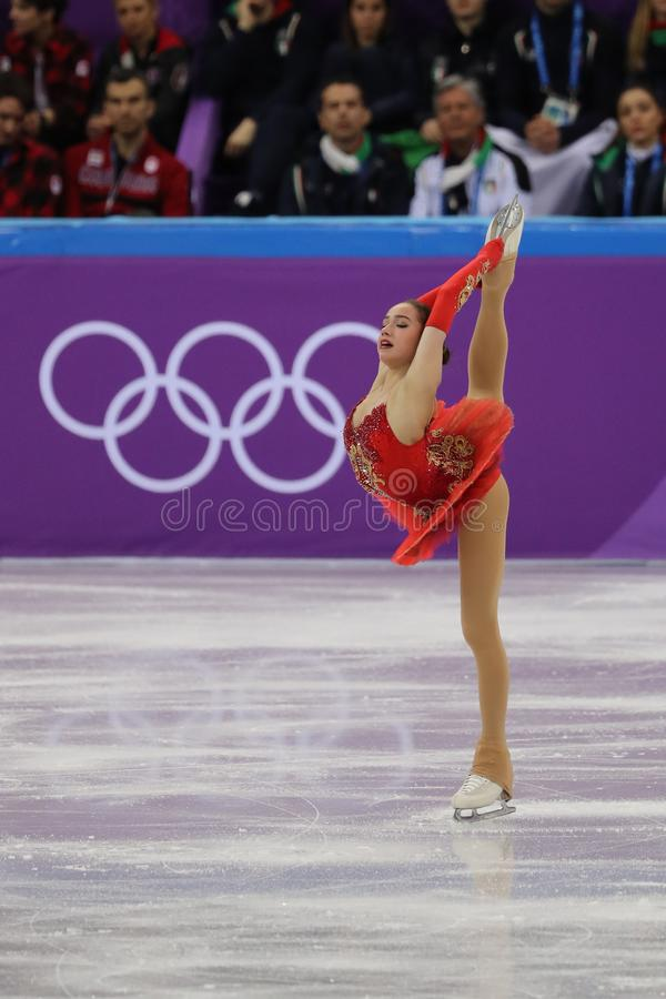 Free Olympic Champion Alina Zagitova Of Olympic Athlete From Russia Performs In The Team Event Ladies Single Skating Free Skating Stock Photos - 110596913