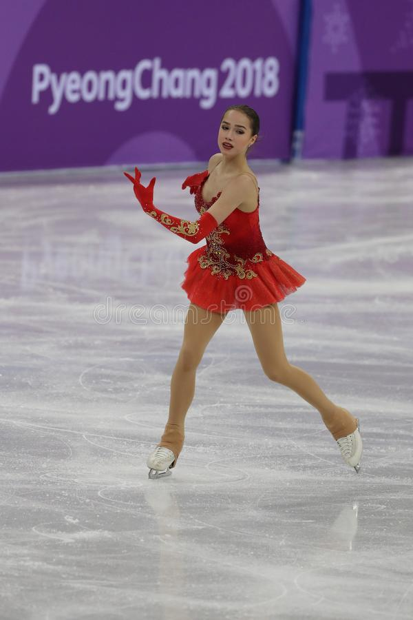 Free Olympic Champion Alina Zagitova Of Olympic Athlete From Russia Performs In The Team Event Ladies Single Skating Free Skating Stock Photos - 110596923