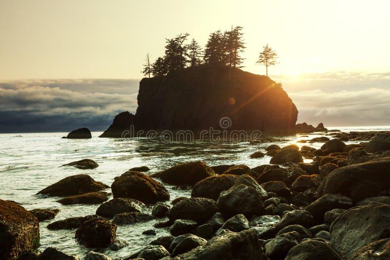 Download Olympic coast stock photo. Image of sunset, scenery, beach - 27026626