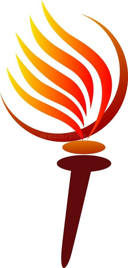 olympic fackla royaltyfri illustrationer