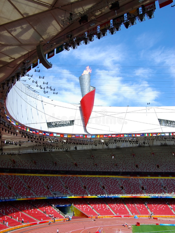 olympic fackla royaltyfri foto
