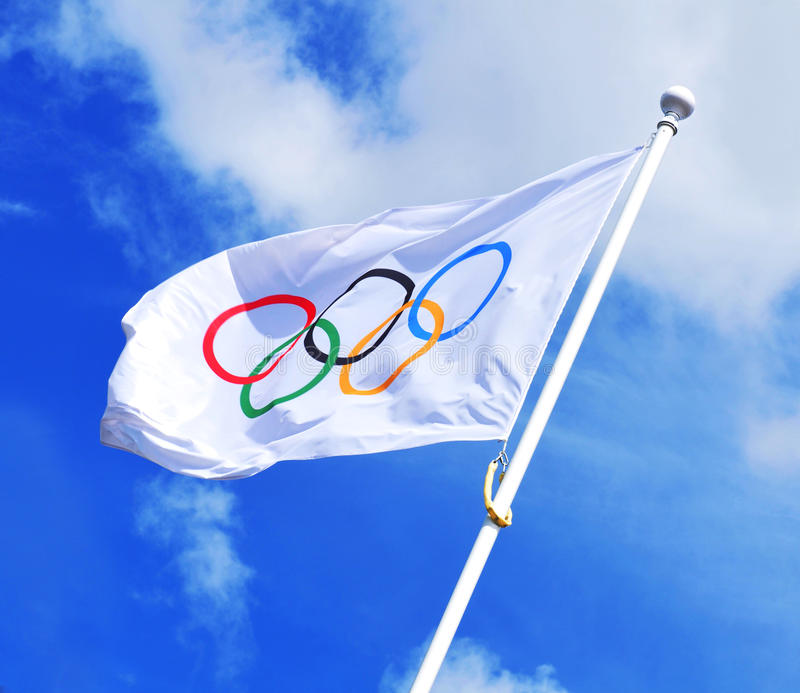Download Olympic flag editorial stock image. Image of olympics - 25996224