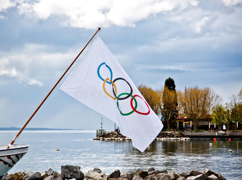 Download Olympic Flag At Olympic Museum Editorial Photography - Image of beauty, water: 24949742