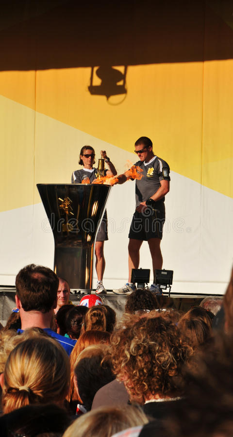 Download Olympic flame editorial photo. Image of olympic, center - 25486706