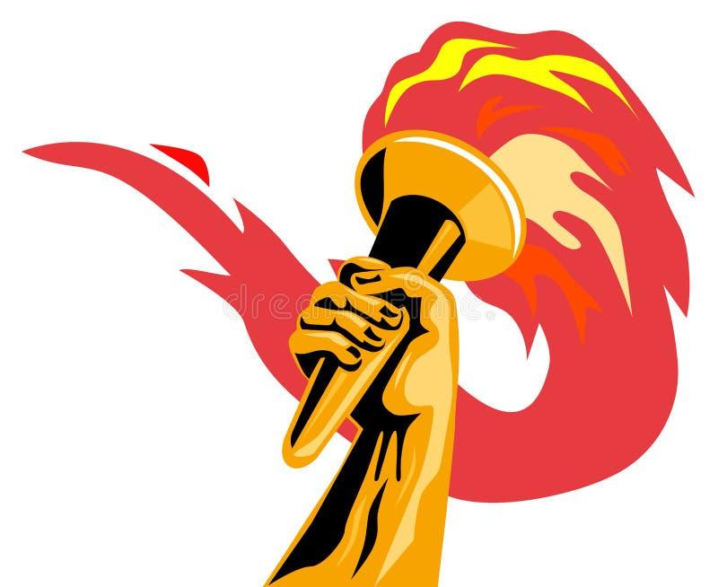 olympic flamma stock illustrationer