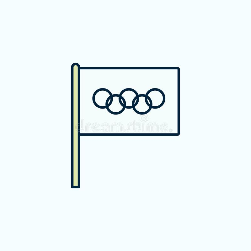 Olympic Games flag 2 colored line icon. Simple colored element illustration. Olympic Games outline symbol design from flags set on royalty free illustration