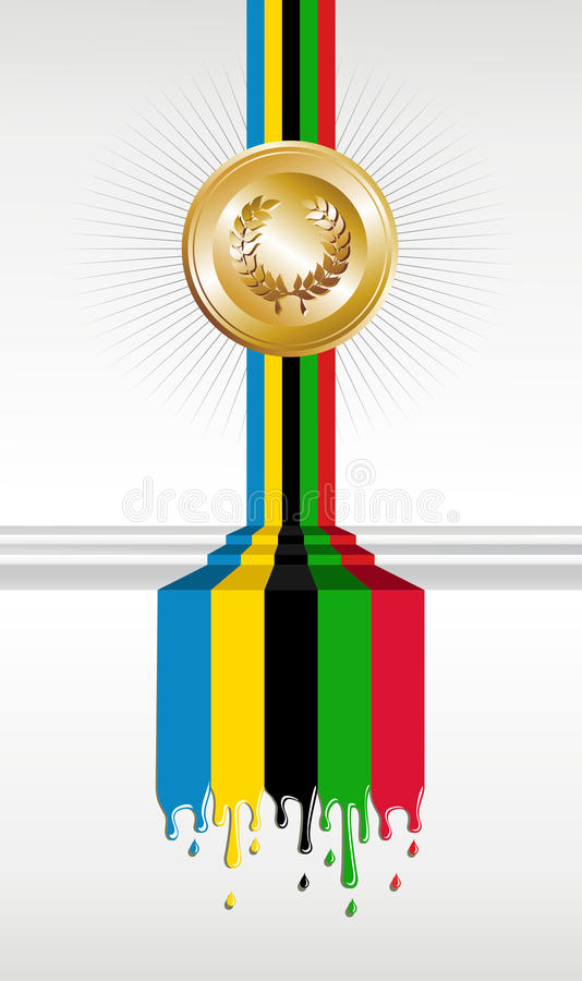 Download Olympic Games Gold Medal Banner Stock Vector - Image: 24673377