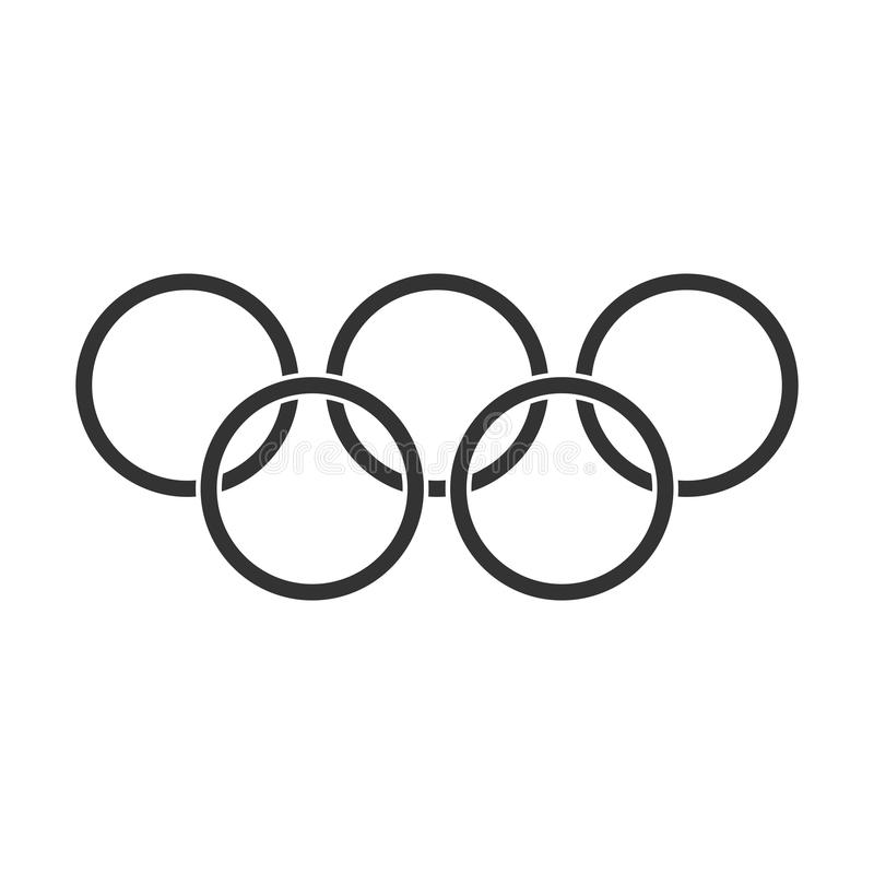 Olympic Games Rings Vector Icon In Flat Style Olympiad Symbol I