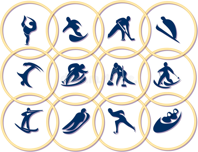 Olympic games symbols vector illustration