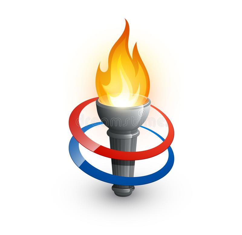 Olympic games torch royalty free stock photo