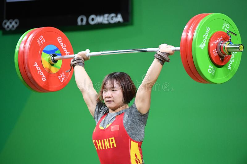 Weight Lifting. Olympic Games 2016- Weight Lifting stock photography