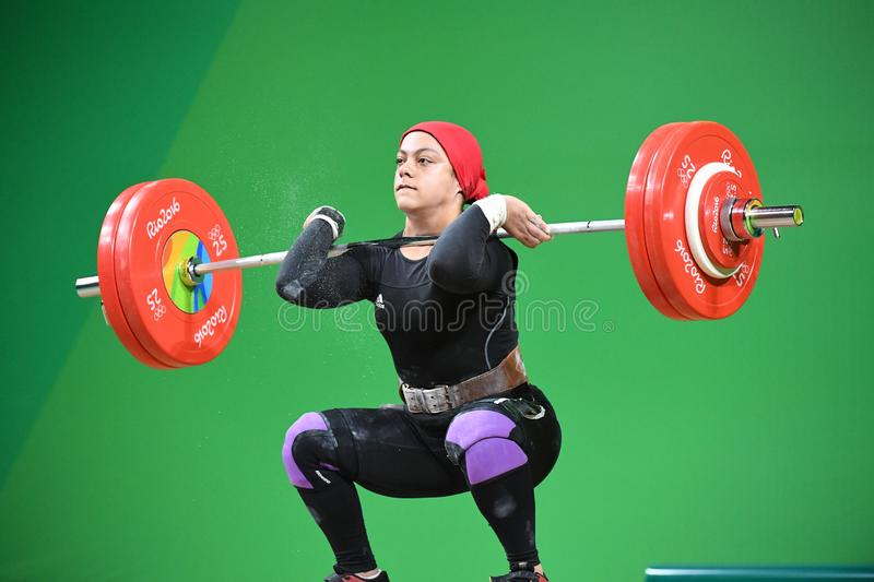 Weight Lifting. Olympic Games 2016- Weight Lifting royalty free stock images