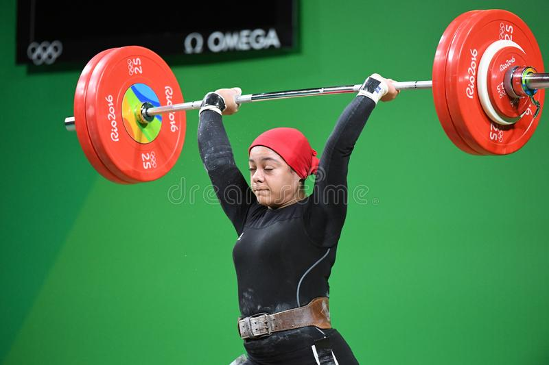 Weight Lifting. Olympic Games 2016- Weight Lifting royalty free stock photo