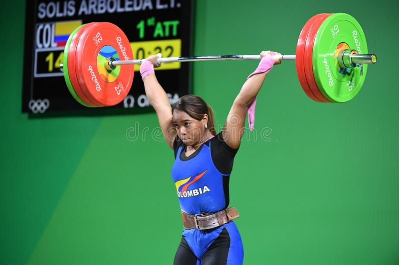 Weight Lifting. Olympic Games 2016- Weight Lifting stock photos