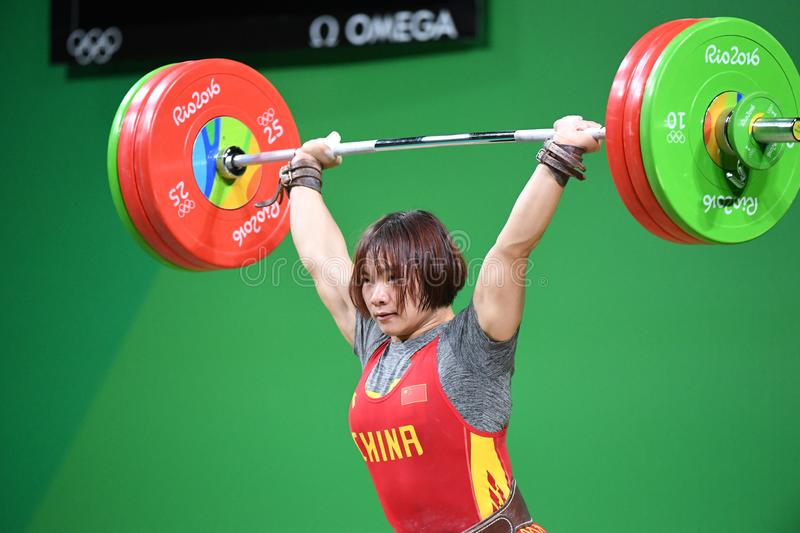 Weight Lifting. Olympic Games 2016- Weight Lifting stock photo