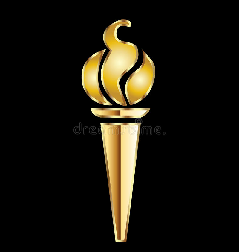 Download Olympic gold torch stock vector. Image of context, background - 25471318