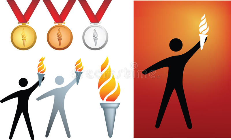 Download Olympic icons stock vector. Illustration of colorful - 11496966