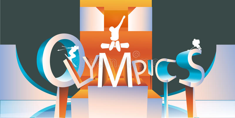 Olympics logo type royalty free illustration