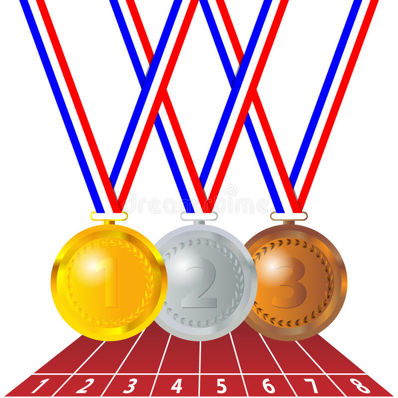 Olympic medals stock illustration