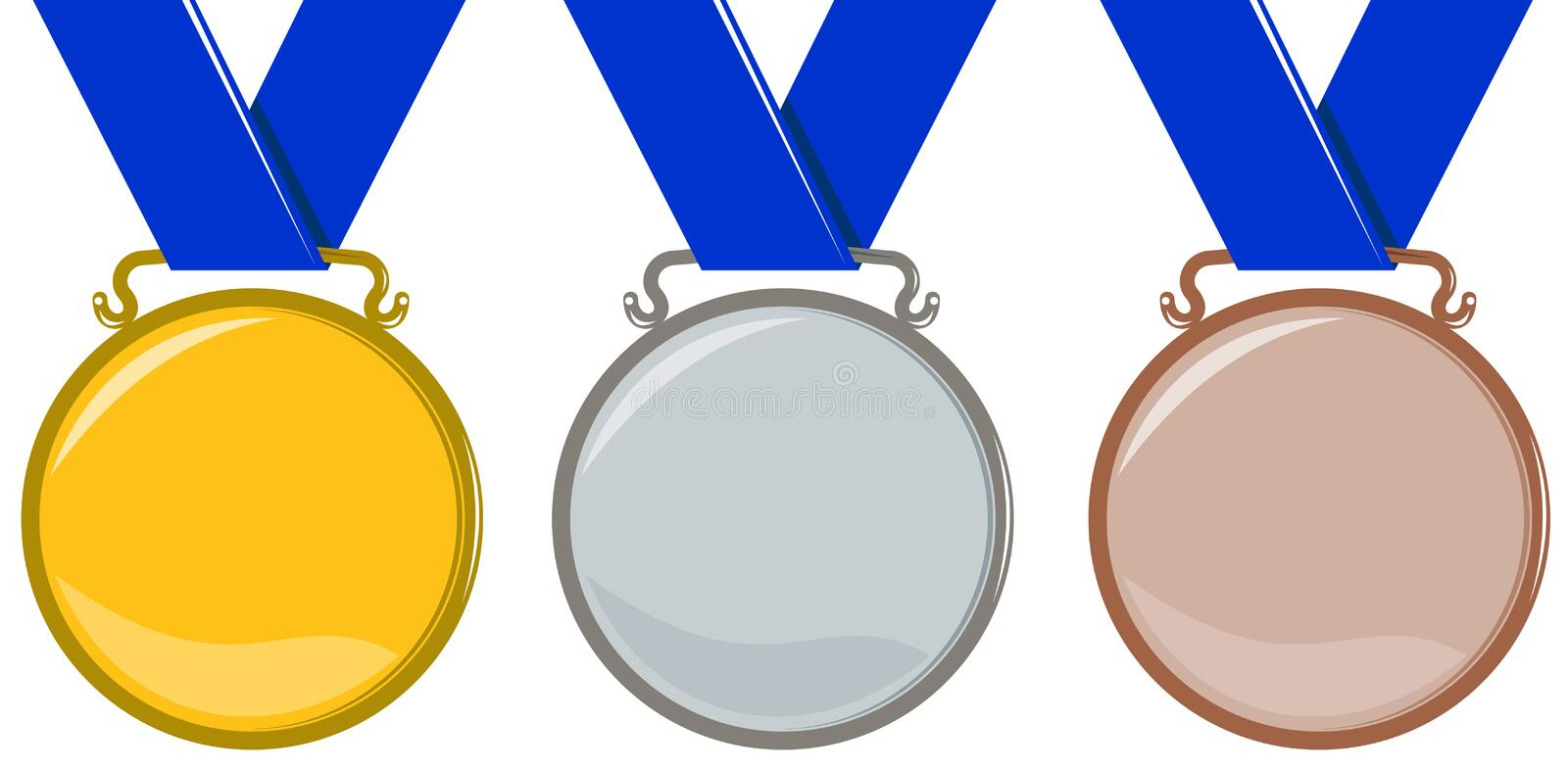 olympic medals stock vector illustration of winner isolated 5966770 rh dreamstime com Olympic Rings Olympic Medal Template