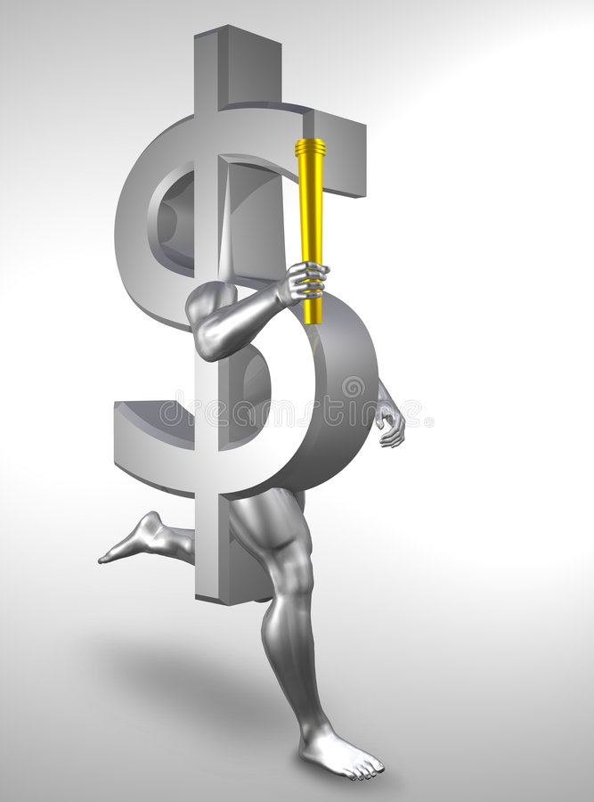 Download Olympic money stock illustration. Image of earn, jogging - 5372081