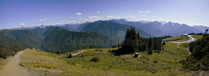 Olympic National Park, panorama stock photo
