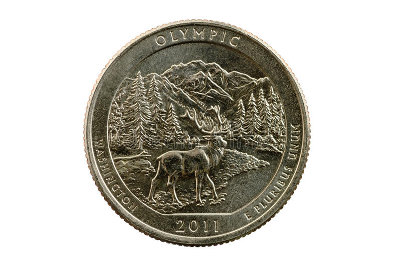 Olympic National Park Quarter Coin Stock Photos