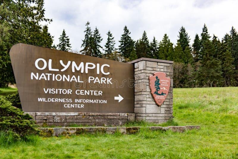 Olympic National Park. A Olympic National Park Sign stock photos