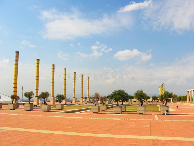 Download Olympic park in Barcelona editorial stock image. Image of olympics - 6555019