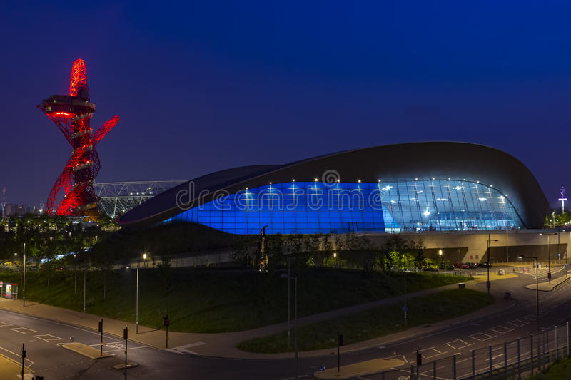 Olympic Park of London by night stock photos