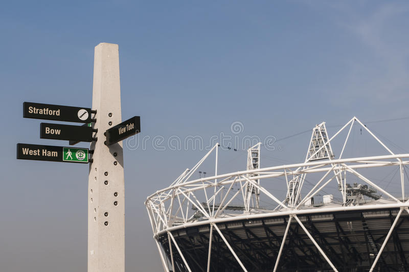Download Olympic Park Sign Post Editorial Photo - Image: 23995191