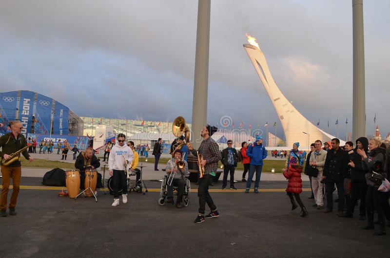 Olympic park in Sochi. Olympic park during XXII winter Olympic games 2014 in Sochi Russia stock images