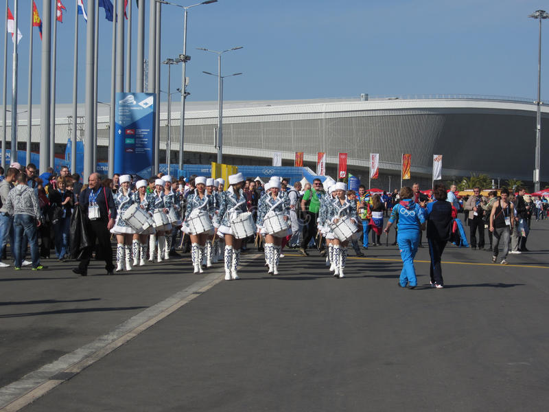 Olympic park in Sochi. Olympic park during XXII winter Olympic games 2014 in Sochi Russia stock photos