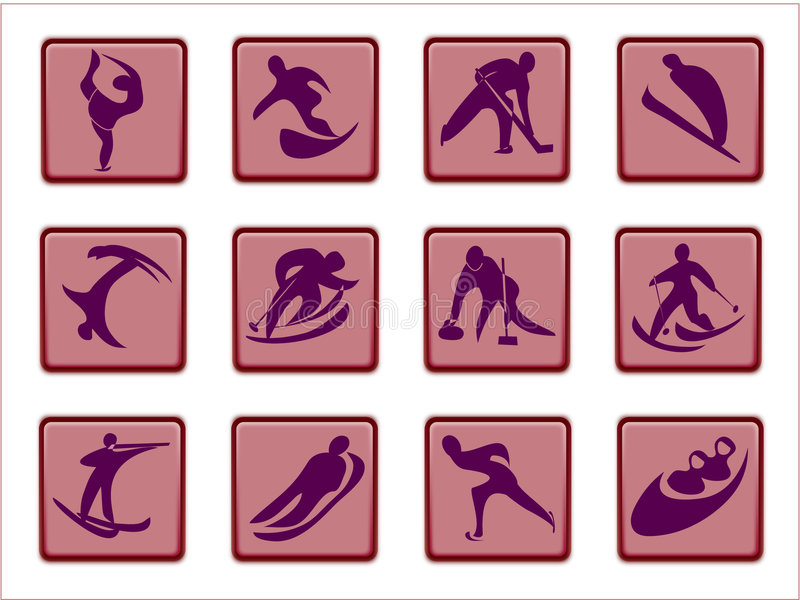 Download Olympic pictograms stock illustration. Image of country - 481758