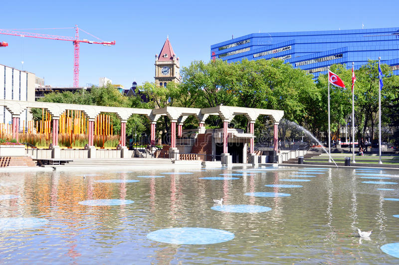 Olympic Plaza, Calgary royalty free stock images