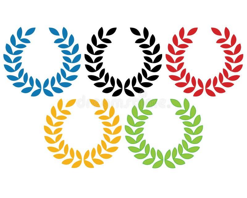 Olympic rings stock illustration