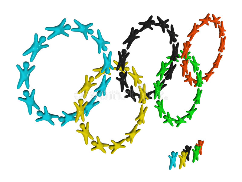 Olympic rings royalty free stock photography