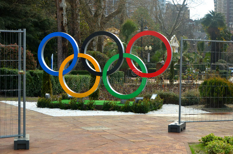 Download Olympic Rings On The Square Editorial Image - Image: 37251660