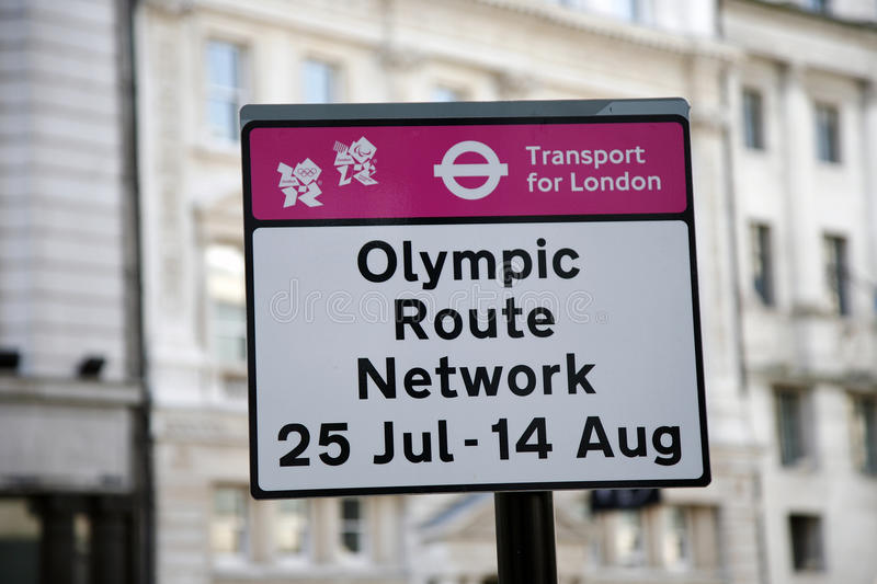 Olympic Route Network sign