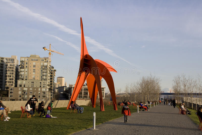 Olympic sculpture park seattle stock image