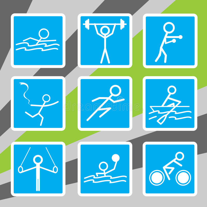Download Olympic sport icons stock vector. Image of rowing, painting - 25851351